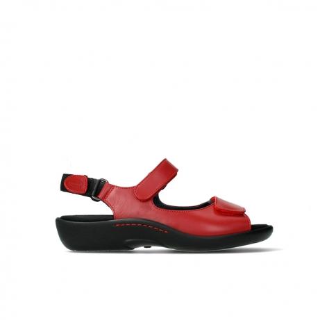 wolky sandalen 01300 salvia 30500 rood leer