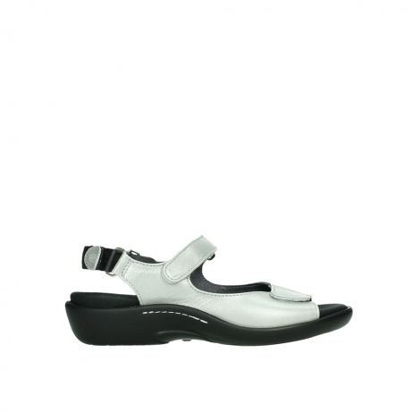 wolky sandalen 01300 salvia 85130 silver leather