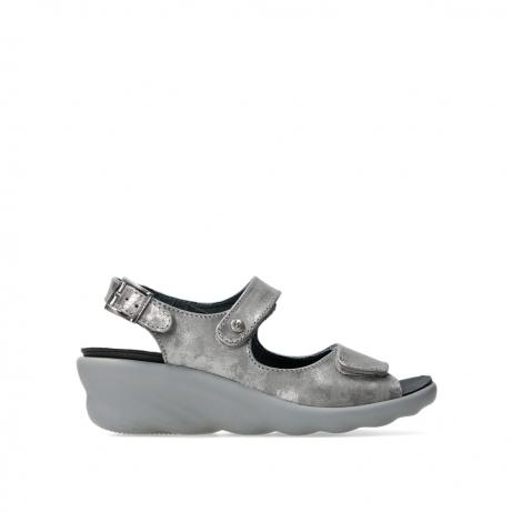 wolky sandalen 03125 scala 10200 grijs zilver nubuck