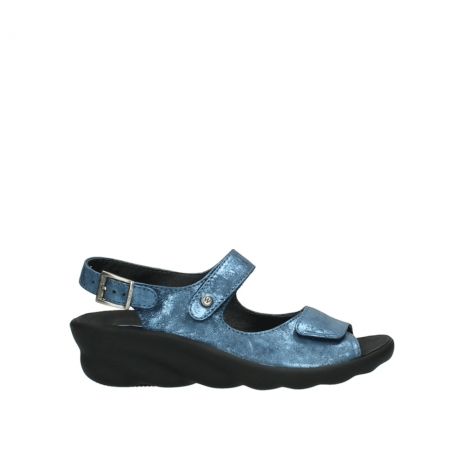 wolky sandalen 03125 scala 10800 blau nubukleder