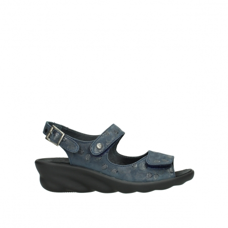 wolky sandalen 03125 scala 12800 blue nubuckleather