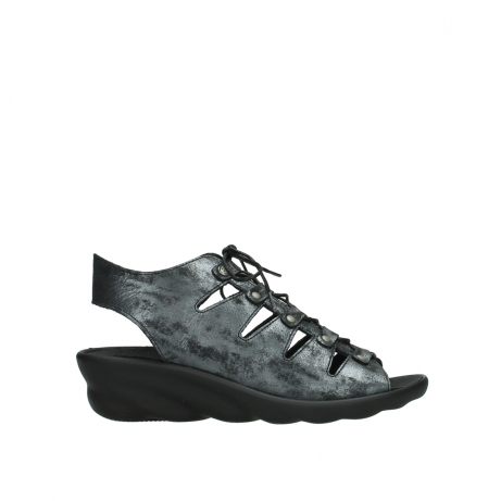 wolky sandalen 03126 arena 10000 black anthracite nubuck