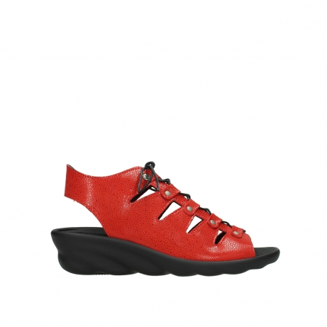 wolky sandalen 03126 arena 90500 rood nubuck