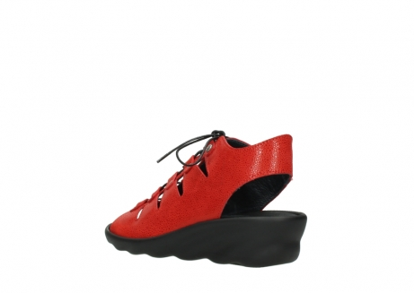 wolky sandales 03126 arena 90500 nubuck rouge_4