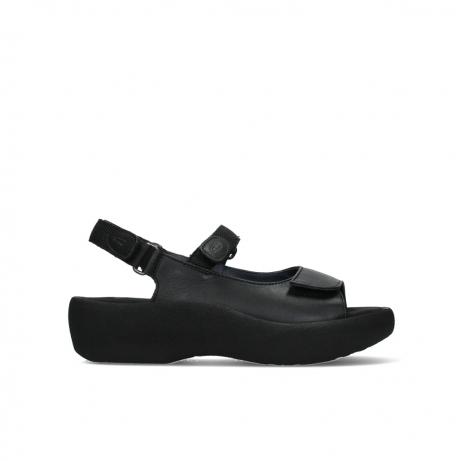 wolky sandalen 03204 jewel 30000 schwarz leder