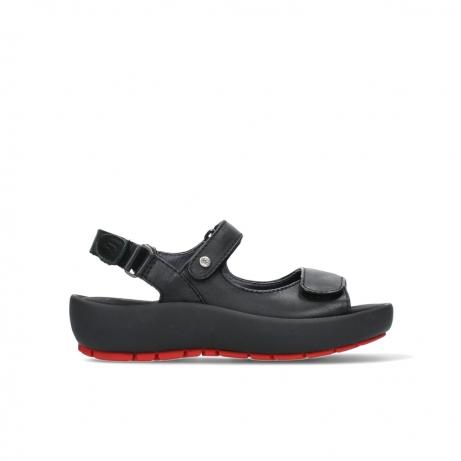wolky sandalen 03325 rio 20000 zwart leer