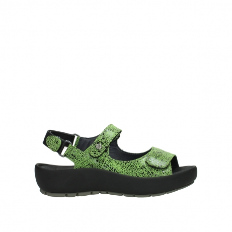 wolky sandalen 03325 rio 40750 lime crash suede