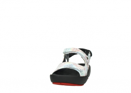 wolky sandalen 03325 rio 70980 white multi color canal leather_20