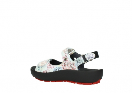 wolky sandalen 03325 rio 70980 white multi color canal leather_3