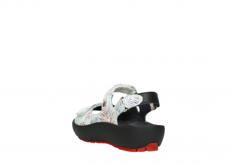 wolky sandalen 03325 rio 70980 white multi color canal leather_5