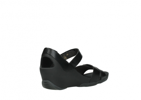 wolky sandalen 03775 epoch 30000 black leather_10