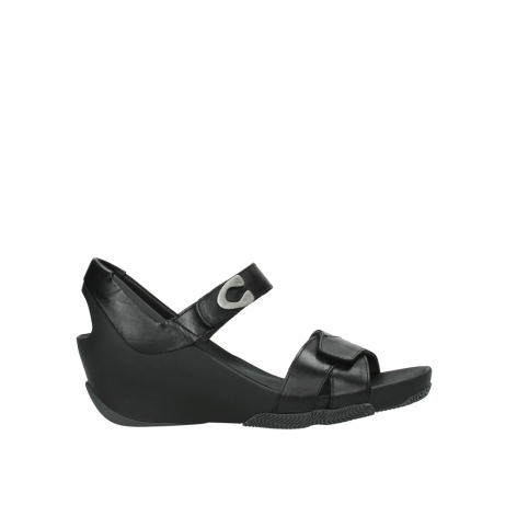 wolky sandalen 03775 epoch 30000 black leather