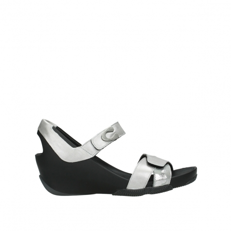 wolky sandalen 03775 epoch 89133 silver grey leather