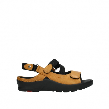 wolky sandalen 03925 lisse 35920 ocher yellow leather