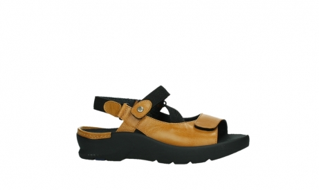 wolky sandalen 03925 lisse 35920 ocher yellow leather_2
