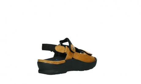 wolky sandalen 03925 lisse 35920 ocher yellow leather_22