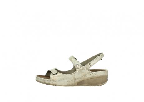 wolky sandalen 0425 shallow 639 beige kaviarprint leder_1