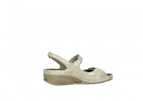 wolky sandalen 0425 shallow 639 beige kaviarprint leder_12
