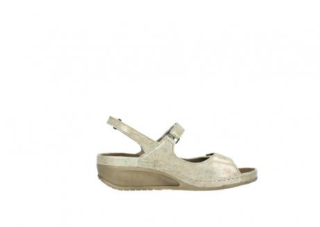 wolky sandalen 0425 shallow 639 beige kaviarprint leder_13
