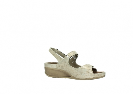 wolky sandalen 0425 shallow 639 beige kaviarprint leder_15