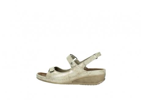 wolky sandalen 0425 shallow 639 beige kaviarprint leder_2
