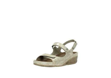 wolky sandalen 0425 shallow 639 beige kaviarprint leder_22