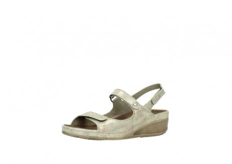 wolky sandalen 0425 shallow 639 beige kaviarprint leder_23