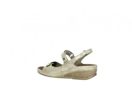 wolky sandalen 0425 shallow 639 beige kaviarprint leder_3