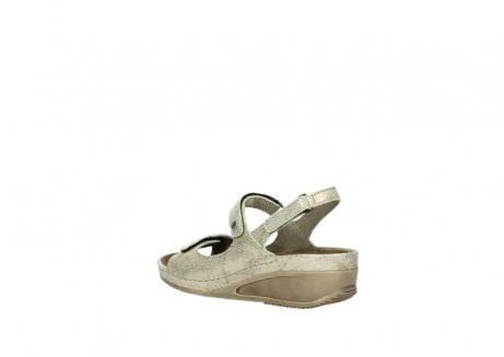 wolky sandalen 0425 shallow 639 beige kaviarprint leder_4