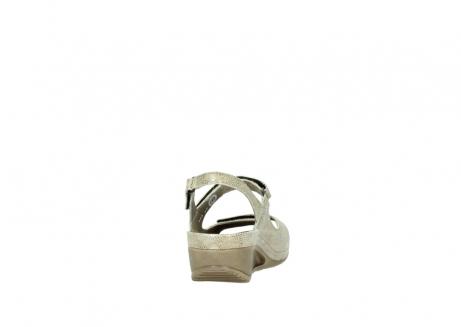 wolky sandalen 0425 shallow 639 beige kaviarprint leder_8