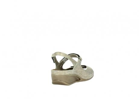 wolky sandalen 0425 shallow 639 beige kaviarprint leder_9