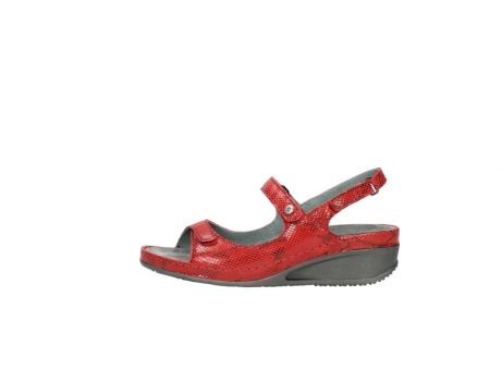 wolky sandalen 0425 shallow 650 rood kaviaarprint leer_1