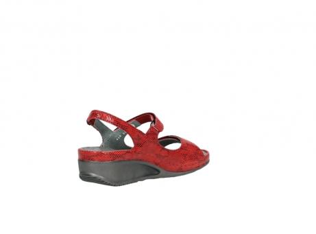 wolky sandalen 0425 shallow 650 rood kaviaarprint leer_10