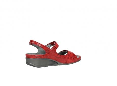 wolky sandalen 0425 shallow 650 rood kaviaarprint leer_11