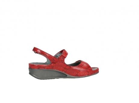 wolky sandalen 0425 shallow 650 rood kaviaarprint leer_12