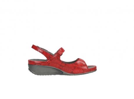wolky sandalen 0425 shallow 650 rood kaviaarprint leer_13