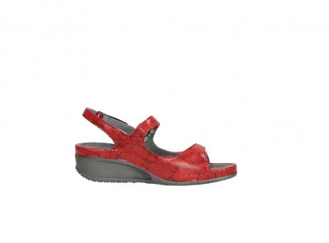 wolky sandalen 0425 shallow 650 rood kaviaarprint leer_14