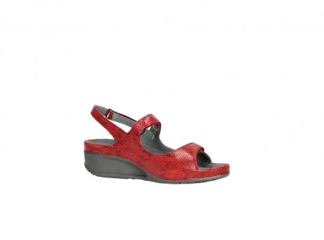 wolky sandalen 0425 shallow 650 rood kaviaarprint leer_15
