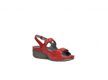 wolky sandalen 0425 shallow 650 rood kaviaarprint leer_16