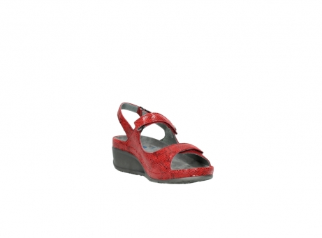 wolky sandalen 0425 shallow 650 rood kaviaarprint leer_17