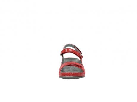 wolky sandalen 0425 shallow 650 rood kaviaarprint leer_19