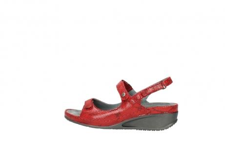 wolky sandalen 0425 shallow 650 rood kaviaarprint leer_2