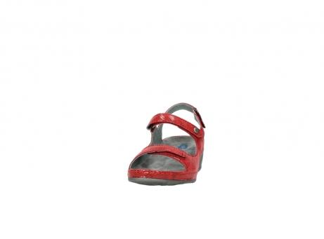 wolky sandalen 0425 shallow 650 rood kaviaarprint leer_20