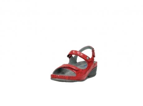 wolky sandalen 0425 shallow 650 rood kaviaarprint leer_21