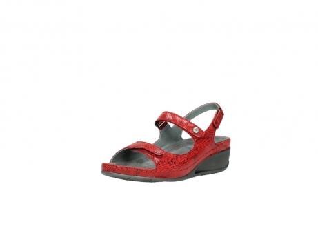 wolky sandalen 0425 shallow 650 rood kaviaarprint leer_22