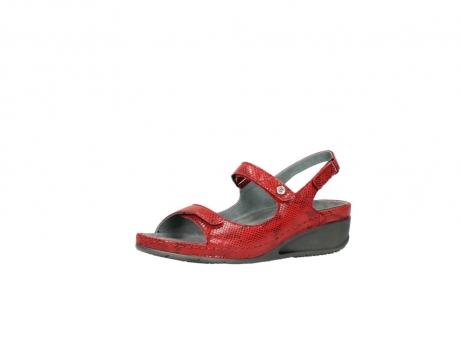 wolky sandalen 0425 shallow 650 rood kaviaarprint leer_23