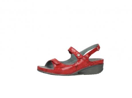 wolky sandalen 0425 shallow 650 rood kaviaarprint leer_24