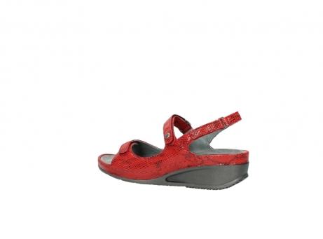 wolky sandalen 0425 shallow 650 rood kaviaarprint leer_3