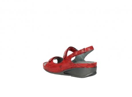 wolky sandalen 0425 shallow 650 rood kaviaarprint leer_4