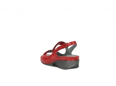 wolky sandalen 0425 shallow 650 rood kaviaarprint leer_5